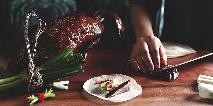 Peking Duck from Tea Lounge at Regent Singapore in Tanglin, Singapore