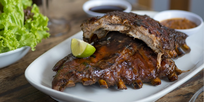 Signature BBQ Ribs at The Hog Wild Bali