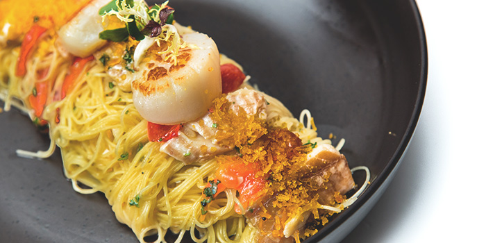 Senso Angel Hair Pasta from Senso Ristorante & Bar on Club Street in Tanjong Pagar, Singapore