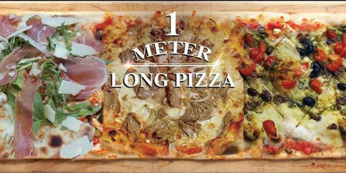 1 Meter Pizza from Big Fat Mama in Sentosa, Singapore