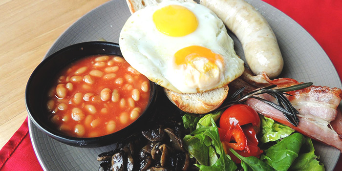 English Breakfast from Big Fat Mama in Sentosa, Singapore