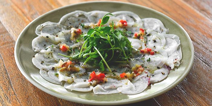 Octopus & Squid Carpaccio from Blue Lotus Mediterranean Kitchen & Bar in Queentown, Singapore