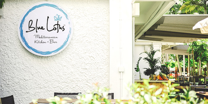 Exterior of Blue Lotus Mediterranean Kitchen & Bar in Queenstown, Singapore