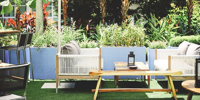 Outdoor Dining Area of Blue Lotus Mediterranean Kitchen & Bar in Queentown, Singapore