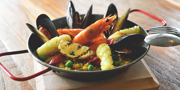 Classic Rice Paella from Blue Lotus Mediterranean Kitchen & Bar in Queenstown, Singapore