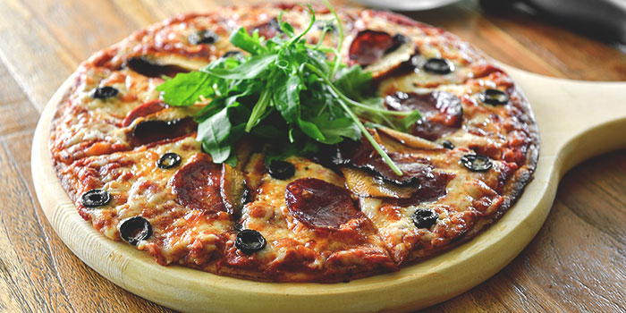 Serrana Pizza from Blue Lotus Mediterranean Kitchen & Bar in Queentown, Singapore