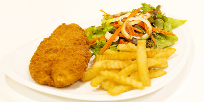 Chicken and Chips from Nami Restaurant in Karon, Phuket, Thailand
