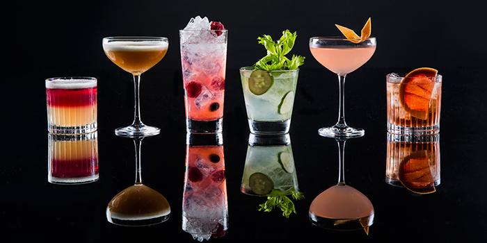 Cocktails various, CÉ LA VI Restaurant Hong Kong, Lan Kwai Fong, Hong Kong
