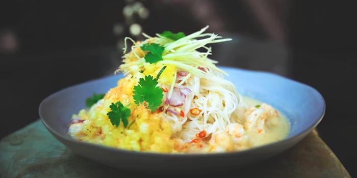 Coconut Poached Prawn from Rock Restaurant & Bar at Soi Ruamrudee, Witthayu Road, Bangkok