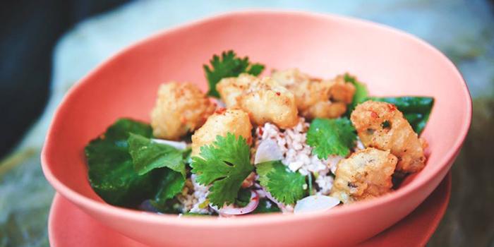 Crispy Oysters from Rock Restaurant & Bar at Soi Ruamrudee, Witthayu Road, Bangkok