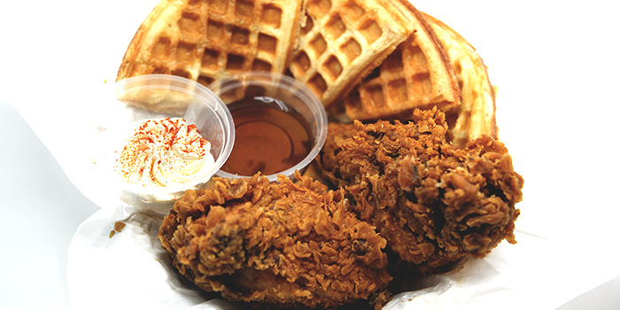 Fried Chicken & Waffle from Dancing Crab at VivoCity in Harbourfront, Singapore