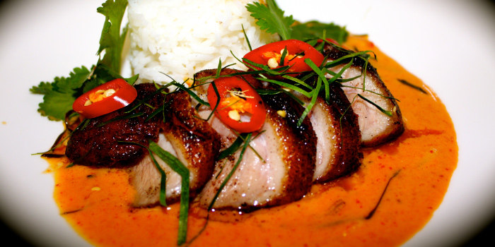Duck Red Curry from The Deck Restaurant Kamala in Kamala, Phuket, Thailand.