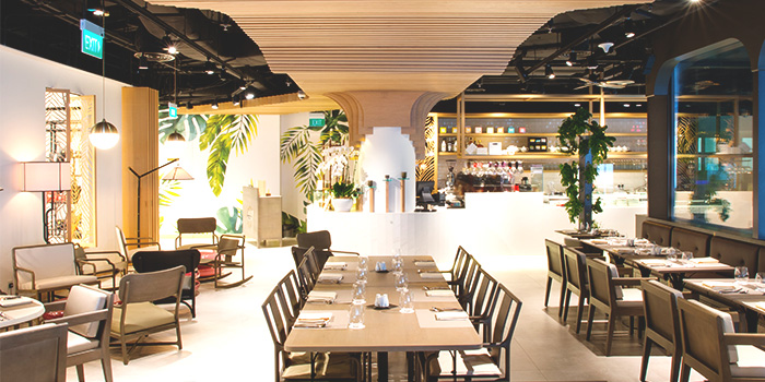 AngeCafe Interior from Glasshouse by DHM at The Heeren in Orchard, Singapore