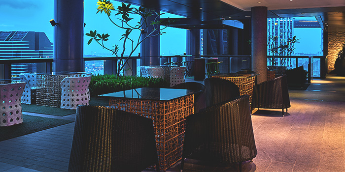 Interior of Graffiti Sky Bar in Carlton City Hotel, Tanjong Pagar, Singapore