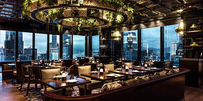 Interior, CÉ LA VI Restaurant Hong Kong, Lan Kwai Fong, Hong Kong