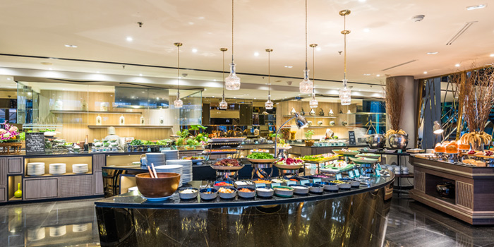 International Buffet from River Barge Restaurant at Chatrium Hotel Riverside, Bangkholame, Bangkok