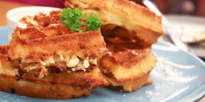 Mac & Cheese Waffles from Montana Singapore in Dhoby Ghaut, Singapore