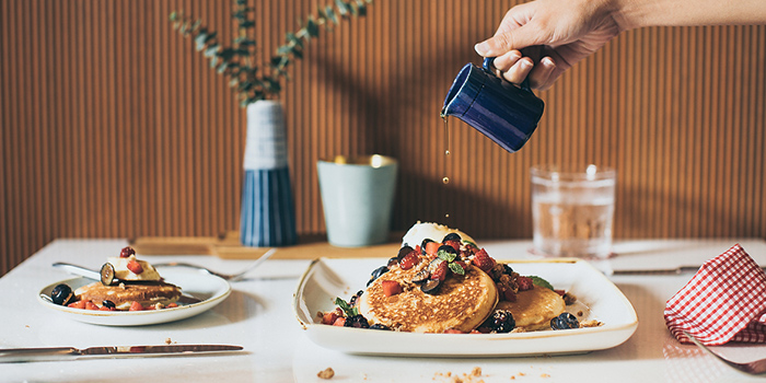 Pancakes and Berries from Publico Deli at InterContinental Singapore Robertson Quay in Robertson Quay, Singapore