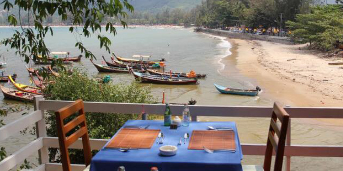 Restaurant-Atmosphere of The Deck Restaurant Kamala in Kamala, Phuket, Thailand.