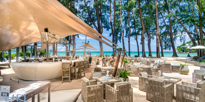 Atmosphere of from HQ Beach Lounge on Kamala Beach, Phuket, Thailand