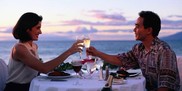Romantic Dinner of  The Deck Restaurant Kamala in Kamala, Phuket, Thailand.