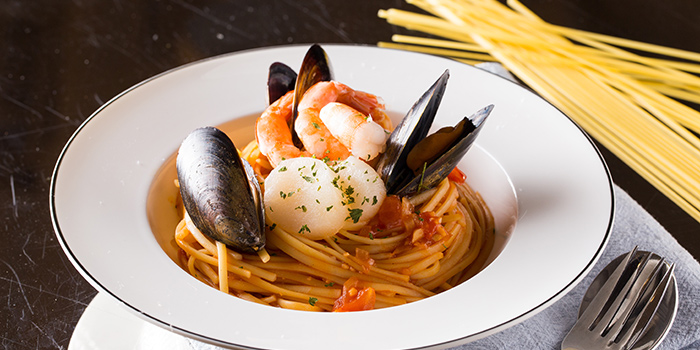 Seafood Spaghetti with Neapolitan Sauce, Co-Dining Space, Tsim Sha Tsui, Hong Kong