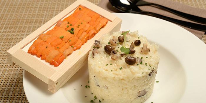 Risotto with sea urchin, Wulu Bar & Restaurant, Tsim Sha Tsui, Hong Kong