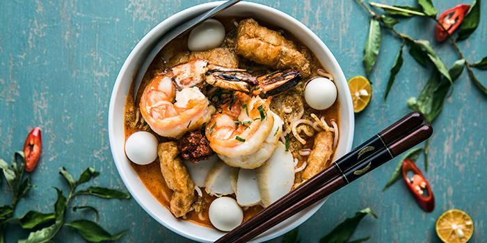 Tiger Prawn Laksa from Sky22 at Courtyard by Marriott Singapore Novena in Novena, Singapore