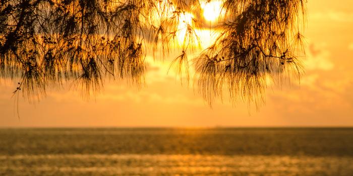 Sunset of from HQ Beach Lounge on Kamala Beach, Phuket, Thailand