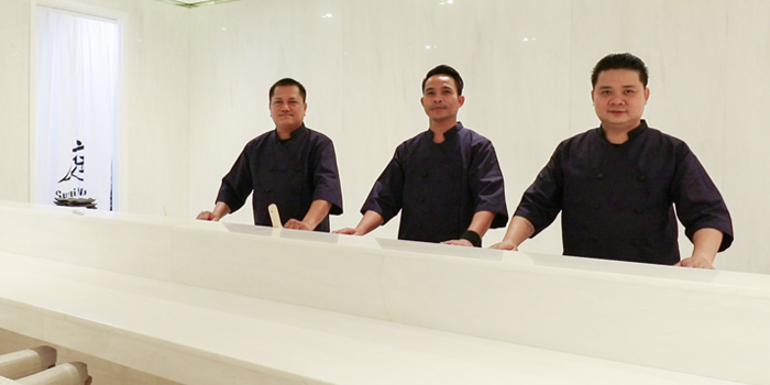 The Chef Team of Sushi Niwa at Soi Ruam Ruedi 2, Lumpini, Pathumwan, Bangkok
