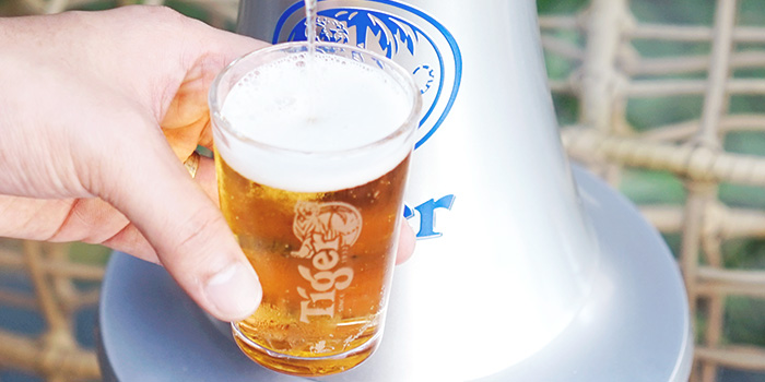 Tiger Beer from Graffiti Sky Bar in Carlton City Hotel, Tanjong Pagar, Singapore