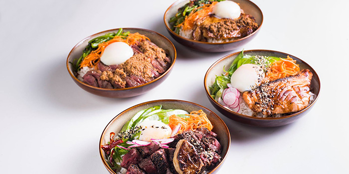 Rice Bowls from The Quarters in Tanjong Pagar, Singapore