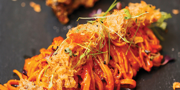 Chilli Crab Pasta from Froth in Raffles Place, Singapore