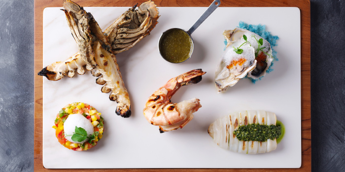 Andaman-seafood-platter-(for-one) from Sizzle Rooftop Restaurant in Tritrang, Patong, Phuket, Thailand.