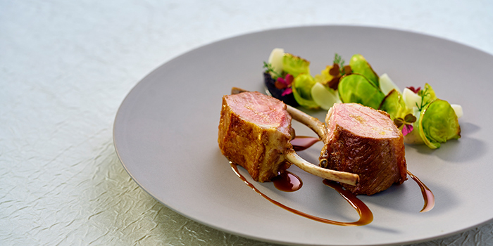 Averynon Lamb Rack Ricotta Cheese and Brussel Sprouts, Restaurant Petrus, Admiralty, Hong Kong