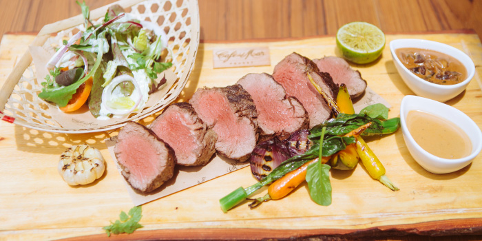 Chateaubriand from Cafe Del Mar in Kamala, Phuket, Thailand.