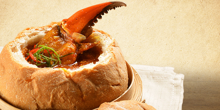 Chili Crab Bread Bowl from Deja Brew at Singapore Chinese Cultural Centre in Tanjong Pagar, Singapore