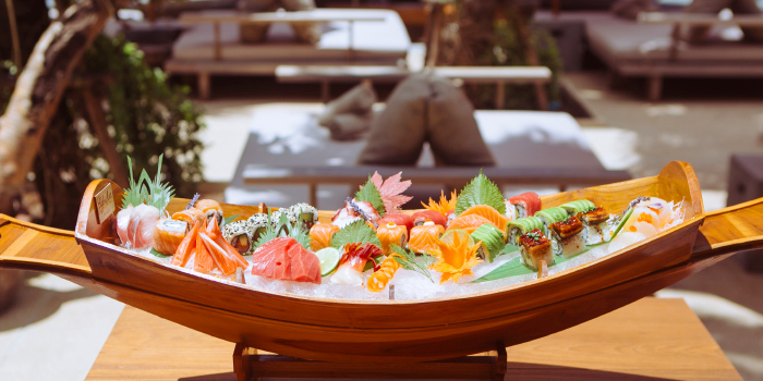 Deluxe-Sashimi-and-Sushi from Cafe Del Mar in Kamala, Phuket, Thailand.