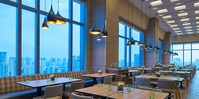 Main Dining Area of Sky22 at Courtyard by Marriott Singapore Novena in Novena, Singapore