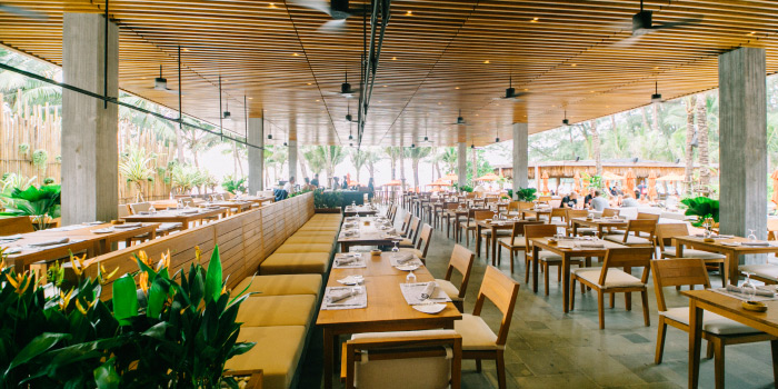 Dining Area of Cafe Del Mar in Kamala, Phuket, Thailand.
