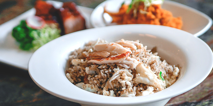 Crabmeat Truffle Egg White Fried Rice from Full of Luck Club in Holland Village, Singapore