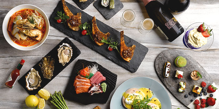 Oceania Seafood Brunch Buffet Spread from Four Points Eatery at Sheraton Singapore Riverview in Robertson Quay, Singapore