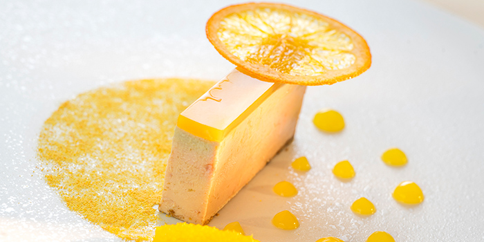 Foie Gras Terrine Navel Orange Textures and 3 Spices Powder, Restaurant Petrus, Admiralty, Hong Kong