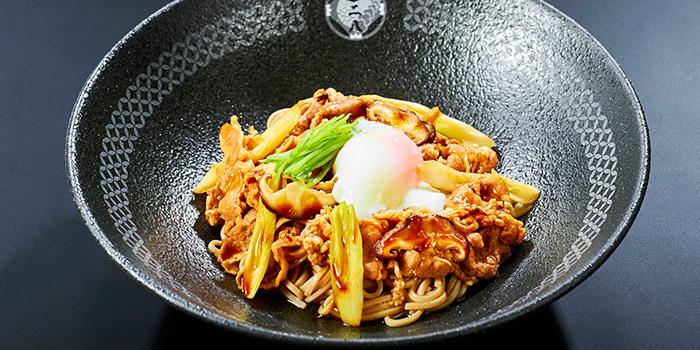 Dry Sukiyaki Maze Soba from Nadai Fujisoba Ni-hachi at 100AM in Tanjong Pagar, Singapore