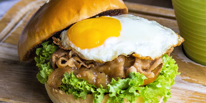 Pork Yakiniku Burger from GRUB (Balestier) at HomeTeamNS-JOM in Balestier, Singapore