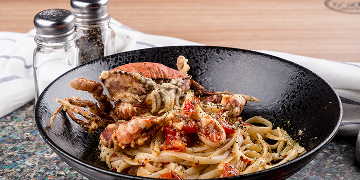 Soft Shell Crab Pasta from G