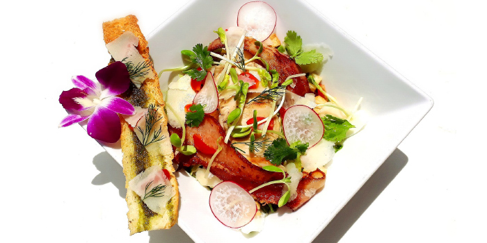 Grilled Chicken & Bacon Caesar Salad from Zen Eat Phuket in Rawai, Phuket, Thailand.