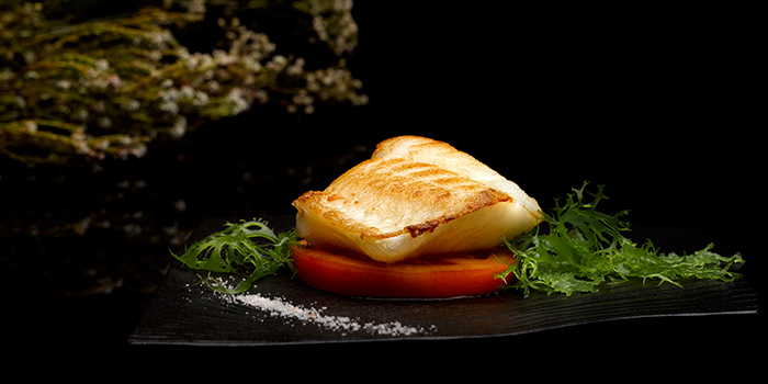 Grilled Cod Fish with Lemon Lime Salt from Crystal Jade Dining IN Restaurant in VivoCity in Harbourfront, Singapore