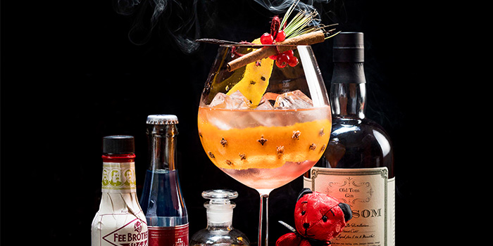 Christmas Pudding Gin & Tonic (24 Nov to 31 Dec) from Lobby Lounge in Conrad Centennial Hotel in Promenade, Singapore