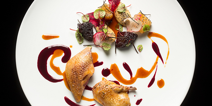 Mieral Pigeon Beetroots and White Miso, Restaurant Petrus, Admiralty, Hong Kong